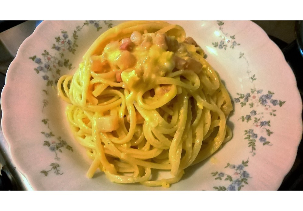 Pasta Carbonara - a recipe from Lazio